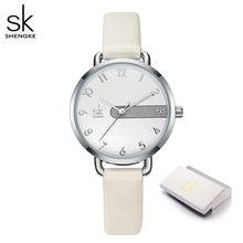 Shengke новые кожаные часы повседневные женские часы 4 цвета японский механизм 3 АТМ водонепроницаемые часы для женщин Zegarek Damski(China)