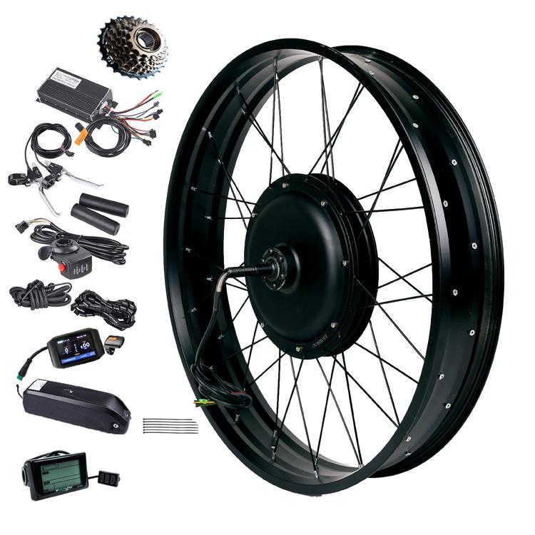 Factory price 36V 48V 72V 500W 1000W 1500W 3000W 5000W hub motor for electric bike conversation kit