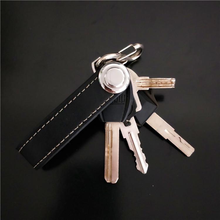 2020 портативный умный держатель для ключей из натуральной кожи, кошелек, Компактный органайзер для автомобильных ключей, карманный инструмент для переноски кольца
