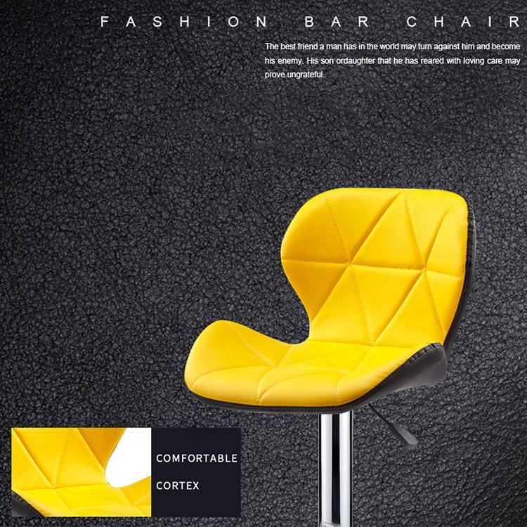 Cheap steel Furniture High Bar Chair Pub Stools Lifting Rotating office Chair leather bar chair