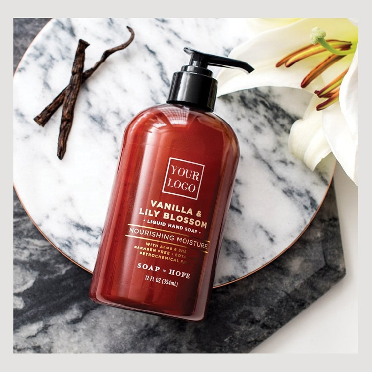 Liquid Hand Soap with ANTIOXIDANT Pomegranate & Plum OIL Moisturizing Hand Wash for Kitchen Bathroom for Oily Sensitive Dry Skin