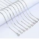 Sterling Silver 925 Sterling Silver Wave Chain 45 Cm Rhodium Plated