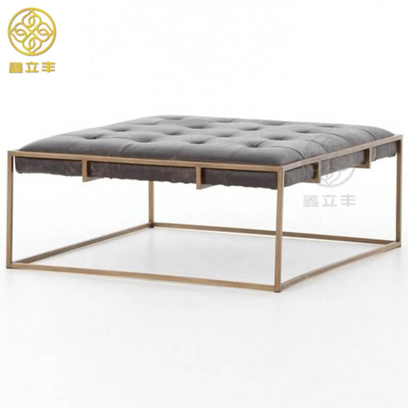 Guangdong Xinlifeng Factory Modern Square Leather Ottoman Coffee Table Buy Square Leather Ottoman Coffee Table Square Ottoman Coffee Table Modern Square Coffee Table Product On Alibaba Com