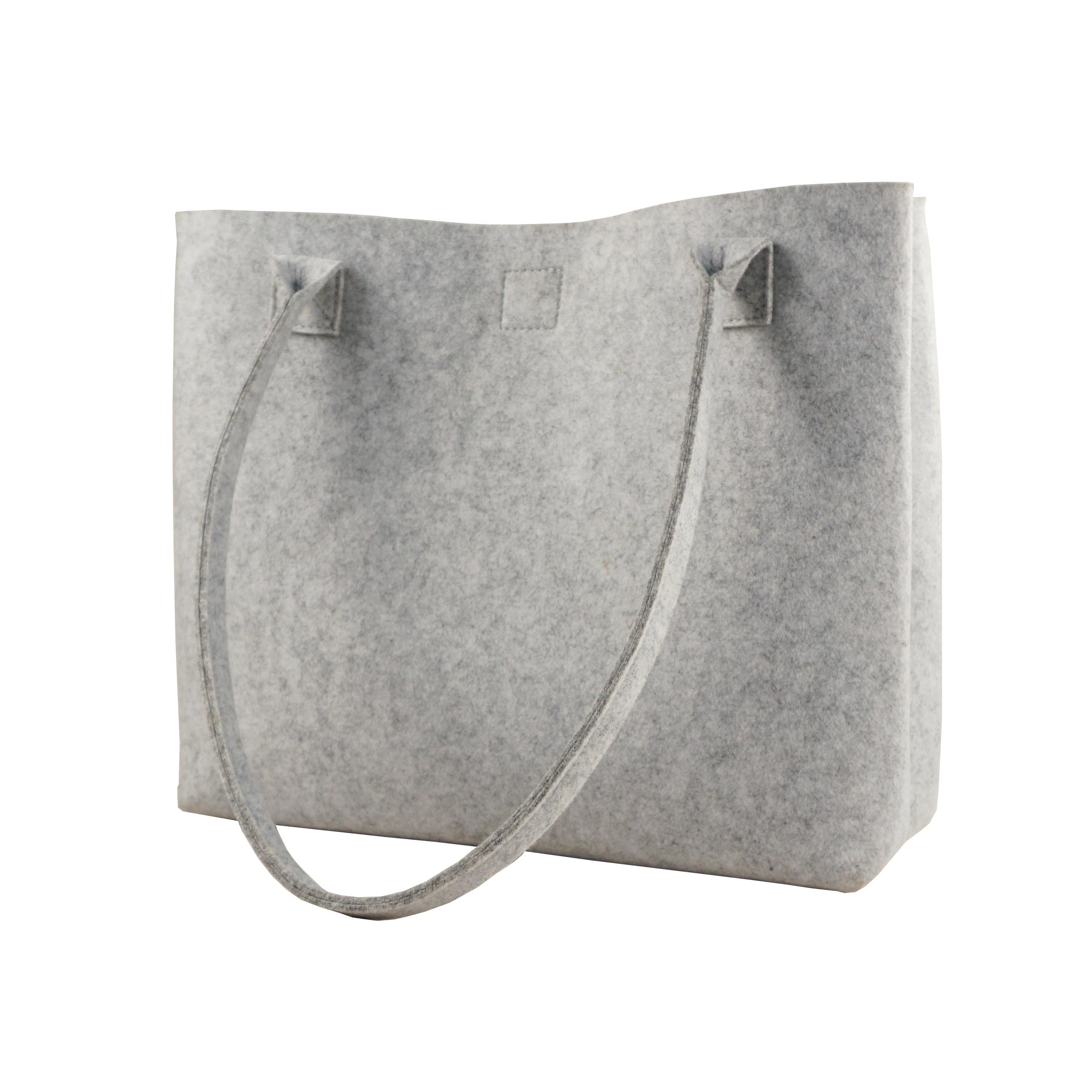 Сумка-тоут Upin из войлока ручной работы для покупок, Повседневная сумка из войлока для женщин с карманами