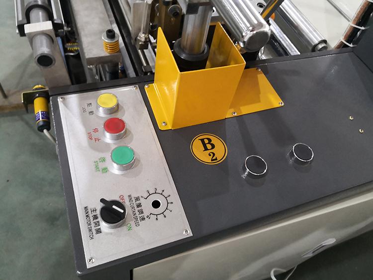 black polythene nylon plastic shoping bag sealing and cuting machine