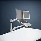 Laptop And Laptop Monitor Mount Stand Aluminum Alloy Laptop And Tablet Dual Arm Stand Holder