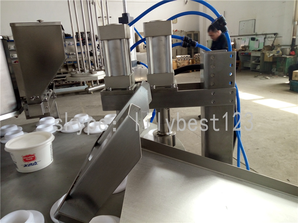 Spot good manual ice-cream semi-finished bases pneumatic filling machine ice cream 316 inox with low price