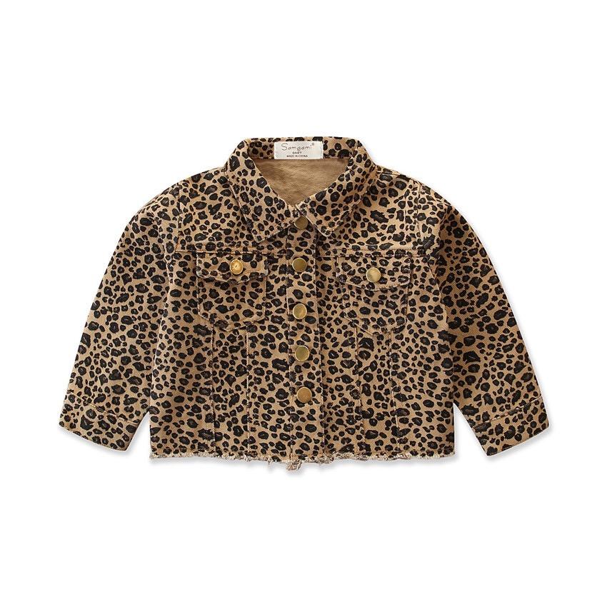 Leopard print girls Spring jacket