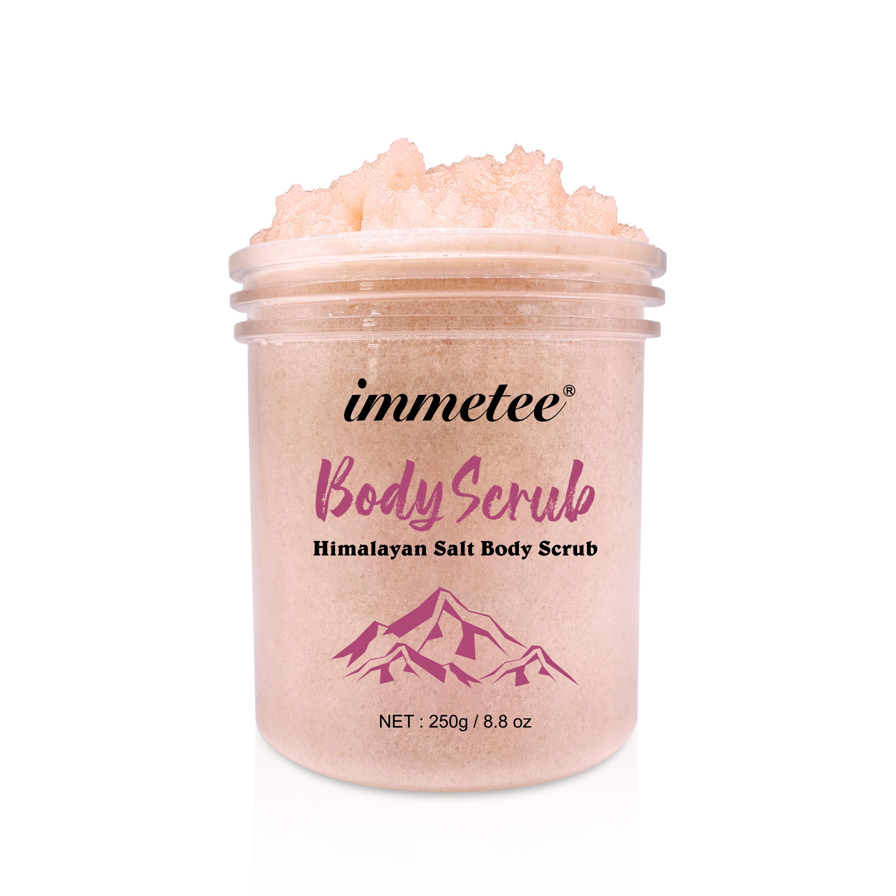 Бесплатный образец, спа-скрабы для глубокой очистки, отшелушивающие скрабы для удаления омертвевшей кожи, маслом сладкого миндаля, сахарной кожи, ГИМАЛАЙСКАЯ СОЛЬ, скраб для тела