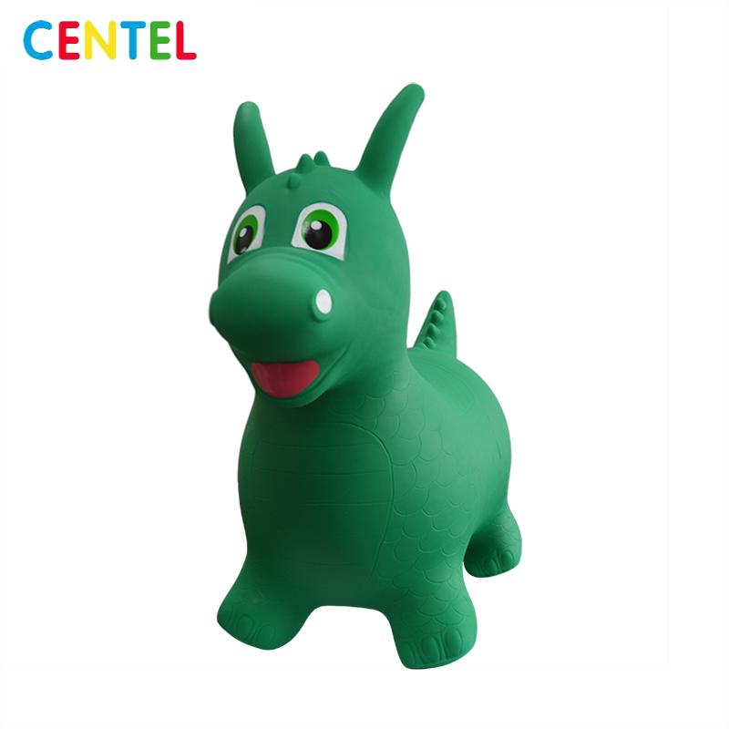 Dinosaur ride-on hopper bouncer animal toy for kids