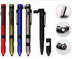 New Pen Plastic Pen With Stylus New Design 6 In 1 Tool Ballpoint Pen Multifunction Pen With Customized Logo Stylus Phone Holder Pen