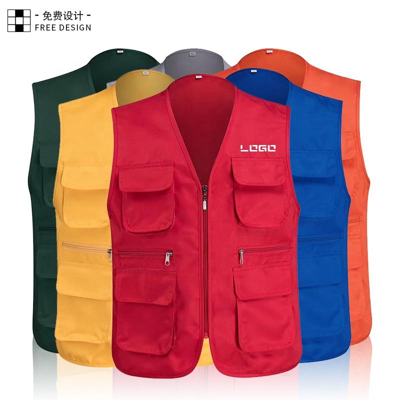 Factory wholesale custom twill fabric E73 multi-pocket jacket vest work