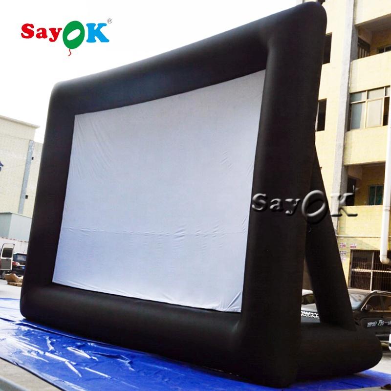 Надувной экран для фильма, надувной экран, проектор для улицы с подставкой, надувной экран для проектора двора