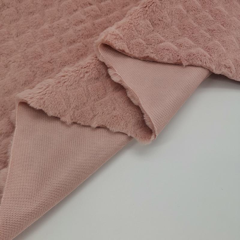 Оптовая продажа, уникальная ткань из искусственного меха кролика