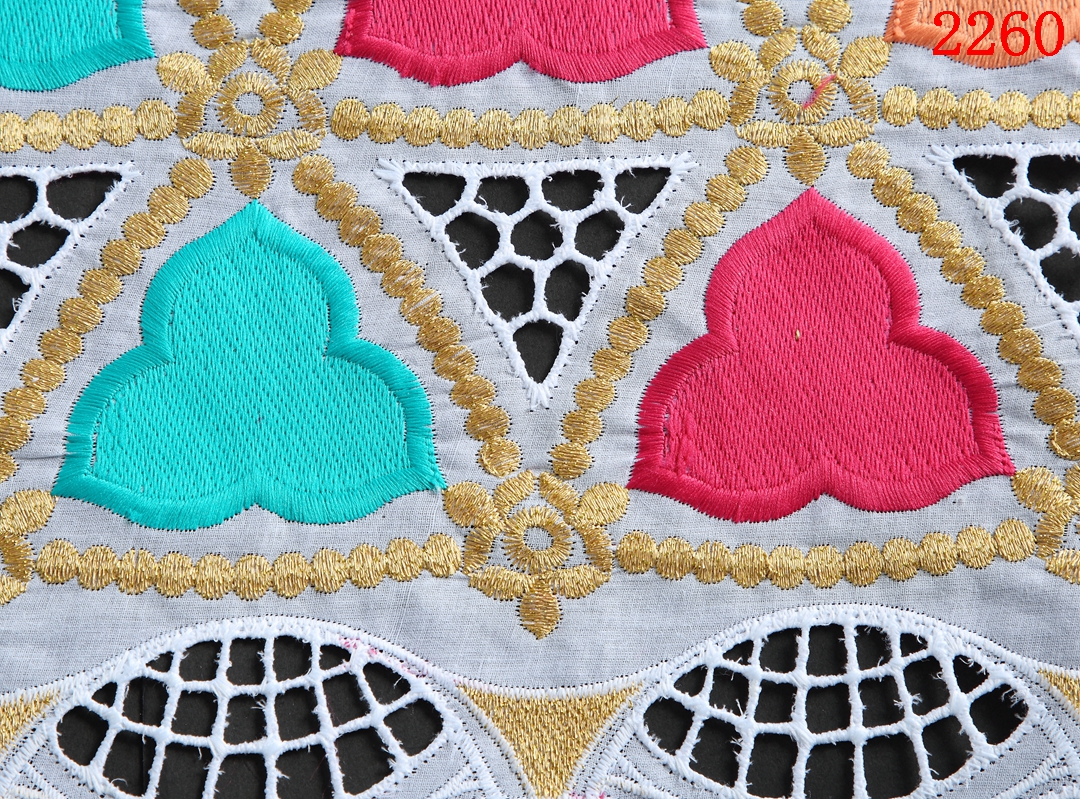 2021 Nigerian Cotton Lace Fabric With Stones High Quality White Color Swiss Voile Lace In Switzerland 2058-2064