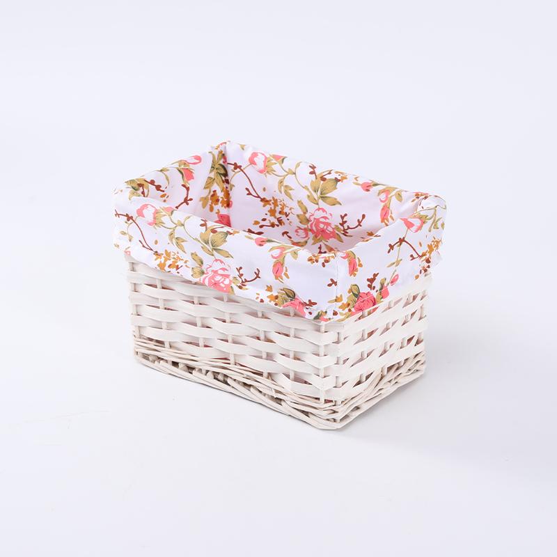 Рекламная угловая плетеная корзина для хранения фруктов и кондитерских изделий