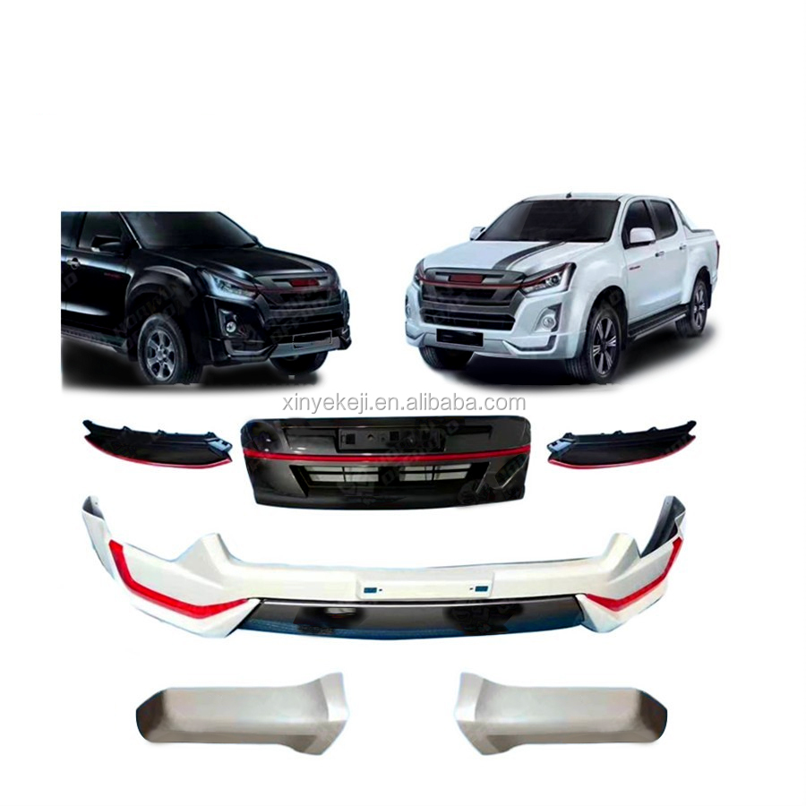 new car accessories front bumper facelift conversion body part kit for isuzu d max 2016 2018 buy body kit conversion kit for isuzu d max body kit