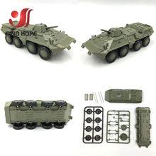 1:72 M35 грузовой автомобиль BTR-80 бронированный Перевозчик пластиковый строительный блок Сборная модель армейская фигурка(Китай)
