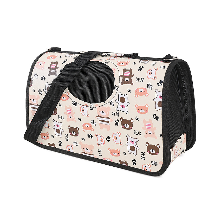 pet bag Fashionable Printing fabric Waterproof Ventilated Portable Traveling pet travel carrier bag