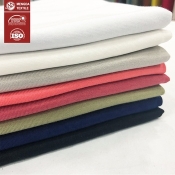 100% cotton knit plain t-shirts 60S long stapled cotton knitted fabric