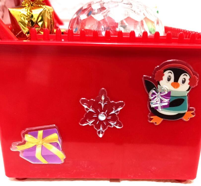 Новый дизайн, оптовая продажа, 2 цвета, пластиковая Рождественская Подарочная музыкальная шкатулка
