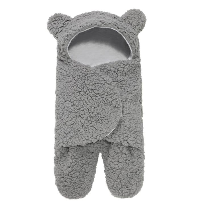 Boys Girls Clothes Sleeping Nursery Wrap Ultra Soft Fluffy Newborn Blanket Infant Baby Sleeping Bag