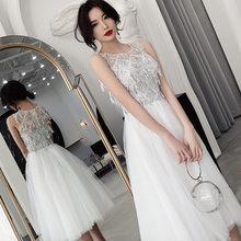 It's Yiiya/платья для выпускного вечера цвета шампанского; Элегантные вечерние платья с круглым вырезом, блестками и кисточками без рукавов; ...(Китай)