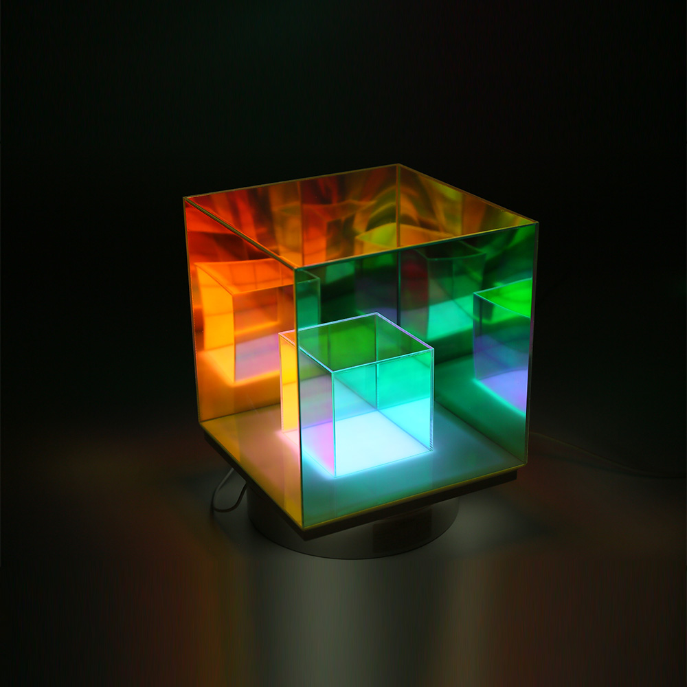 Прямая поставка, ночник для ресторана, настольная лампа-кубик, акриловые волшебные Кубы, СВЕТОДИОДНЫЙ Красочный Настольный светильник для спальни
