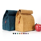 Lunch Bag Waxed Cotton Lunch Bag CHANGRONG Custom Biodegradable Waterproof Eco Organic Cotton Fabric Reusable Adult Women Men Insulated Waxed Canvas Lunch Bag