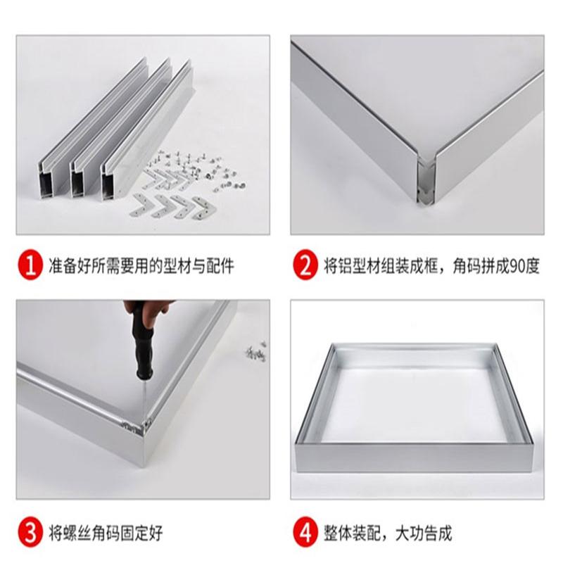 Пользовательский неflectional защелкивающаяся рамка рекламы двухсторонняя светодиодная световая коробка алюминиевый профиль
