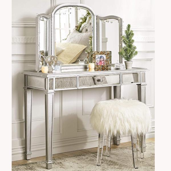 Скандинавский простой роскошный стол для спальни, туалетный столик для макияжа с зеркалом, макияжный стол для девушек с зеркалом