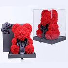 Rose 25cm 40cm 70cm Multicolored Teddy Foam Giant Artificial Rose Bears Gifts With Box