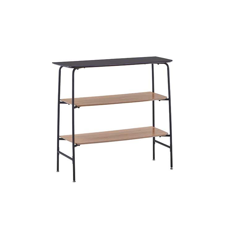 wall small narrow wooden bookcase desk industrial metal wood bookshelf modern design display