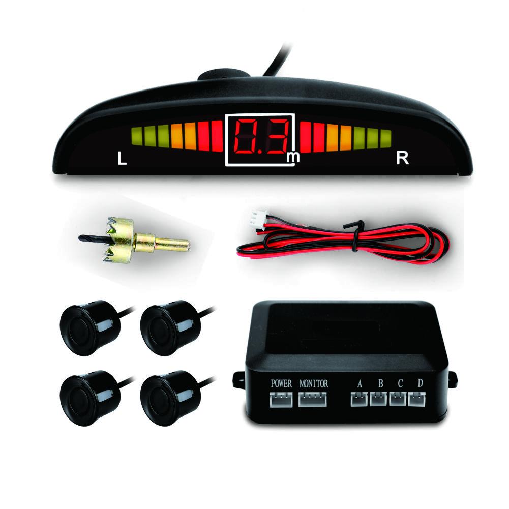 Реальный голосовой реверсивный радар общий мотор Зуммер датчик парковки с четырьмя парковочными датчиками