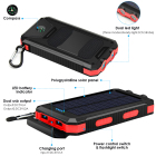Solar Charger With Solar Charger Solar Charger Outdoor Portable Solar Power Bank 20000mah Mobile Power Bank Charger Solar Powered Board Battery Charger With Light Compass