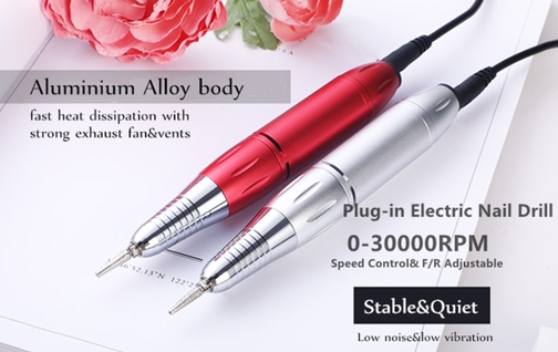 High Cost-Effective Good Quality Professional Nail Drill Manicure 30000Rpm Machine Rechargeable 30000Rpm Nail Drill