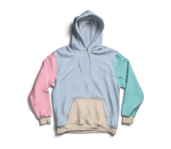 Different Colors Blank Hoodies 100 Cotton Fleece Pullover With Hood Colorblocked Hoodie Sweatshirt
