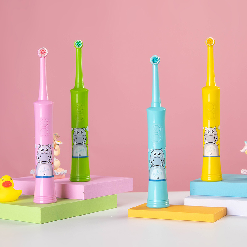 Battery-Operated baby tooth brush Oral Care Factory price kids toothbrush electric waterproof Vibrate toothbrush electric kids