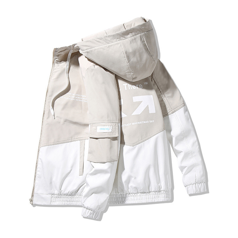 Мужская куртка с капюшоном, приталенная куртка с принтом, размеры до 4XL, на весну и осень, 2021