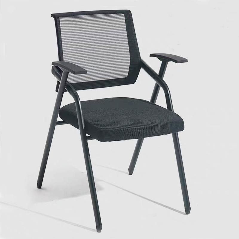 Современная сетчатая Складная мягкая хромированная рамка стул для обучения посетителей студентов с блокнотом для письма и держателем чашки