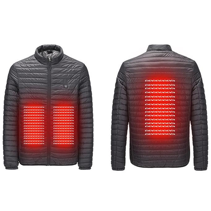 Winter Heated Clothing for Men Down Jacket Long Sleeve Solid Fashion Down Heated Jacket