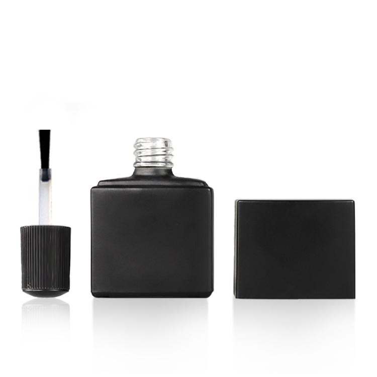 Сделанный на заказ пустой УФ-гель надувной лак для ногтей бутылка белый квадрат