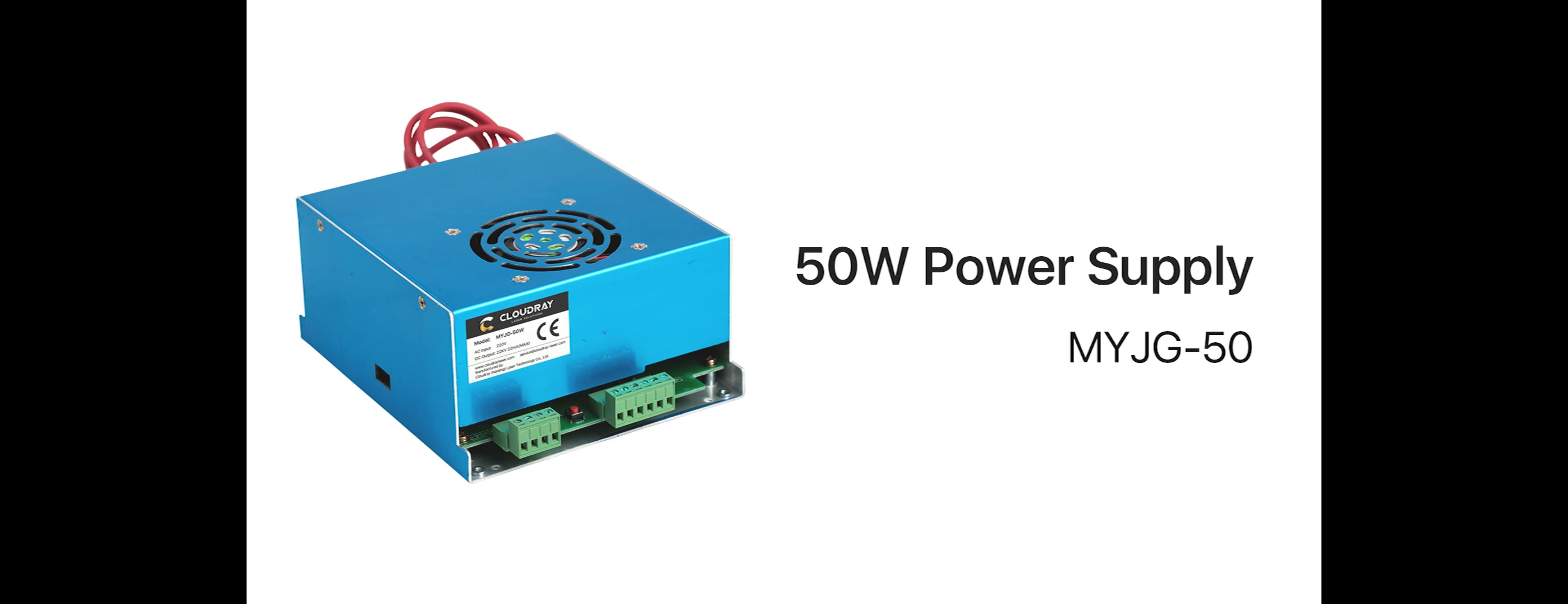 Cloudray CL1070 CO2 Laser Power Supply MYJG-40W 50W Green Shell