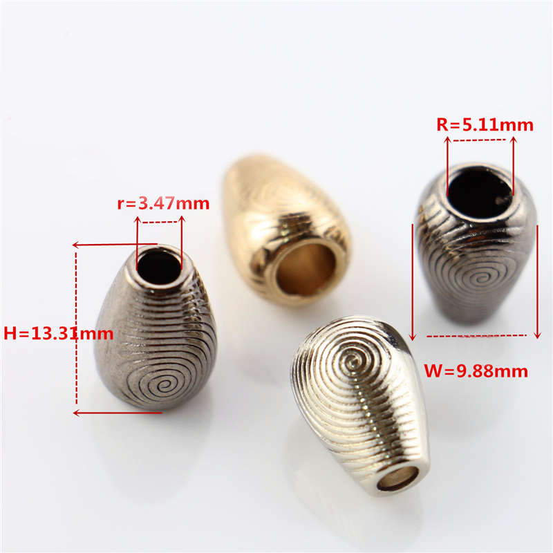 ZINC METAL LACE BELL  SHOCK CORD END STOPPER LOCK  #011