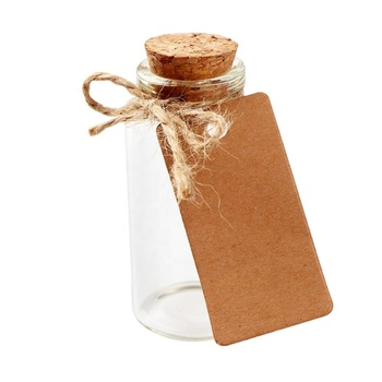 OurWarm Wedding Party Supplies 25ml Cork Stoppers Mini Small Glass Bottles with Label Tags Strings Stickers