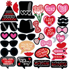 Valentines Day Photo Booth Props Kit Valentines Day Wedding Photo Props Party Supplies Favors