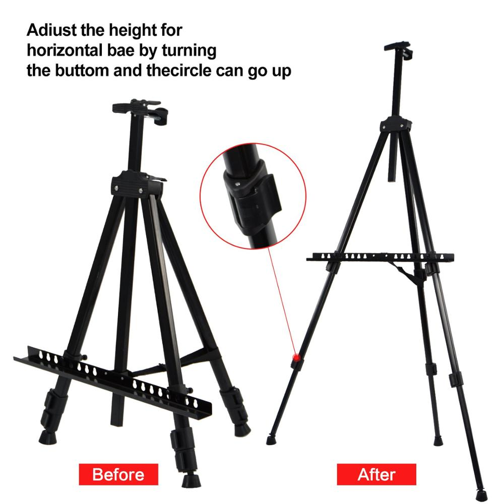 high quality black color artist metal easel stand