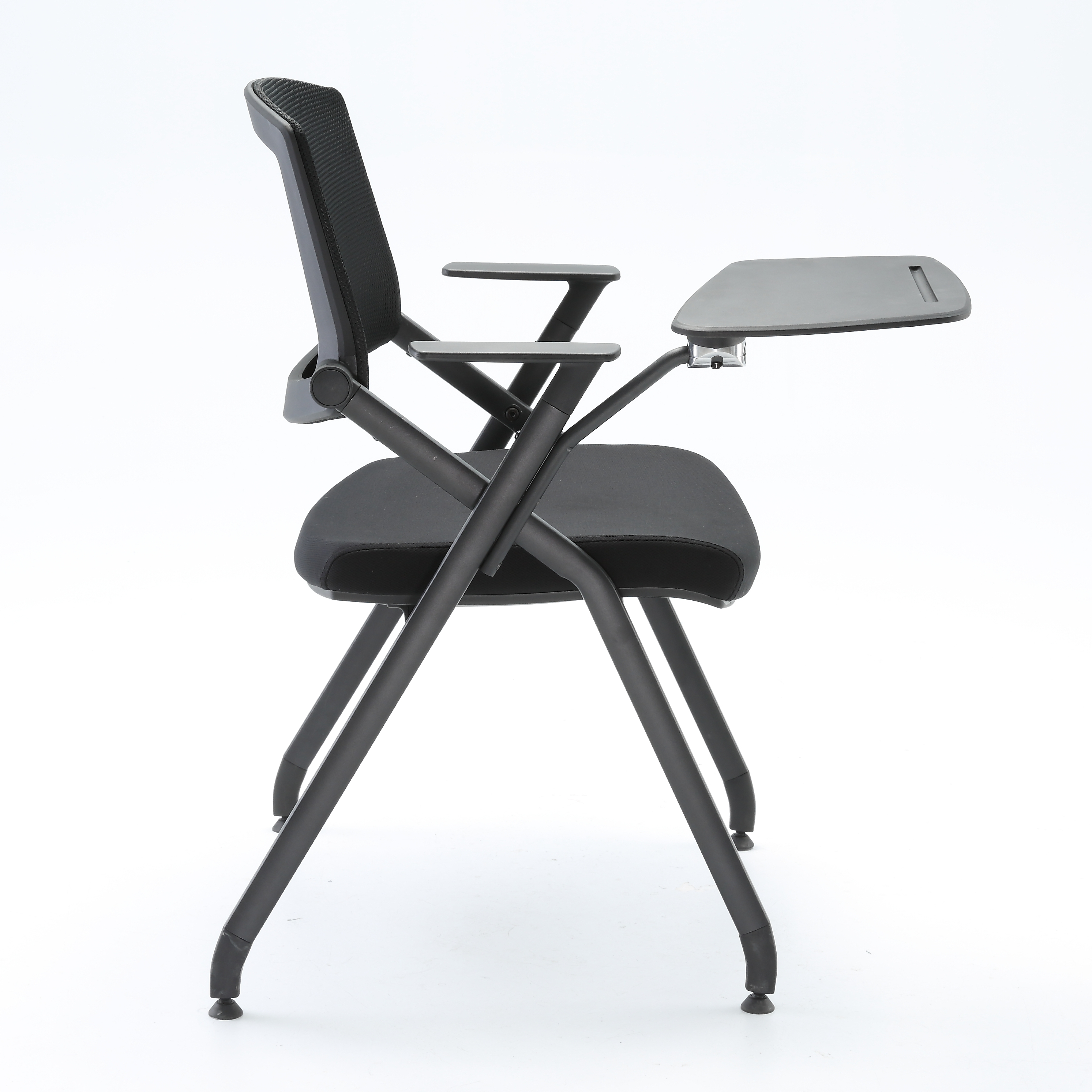 Sihoo Ergonomic Stackable Chair, Folding Training Chair Intelligent Adjustment With Write Pad