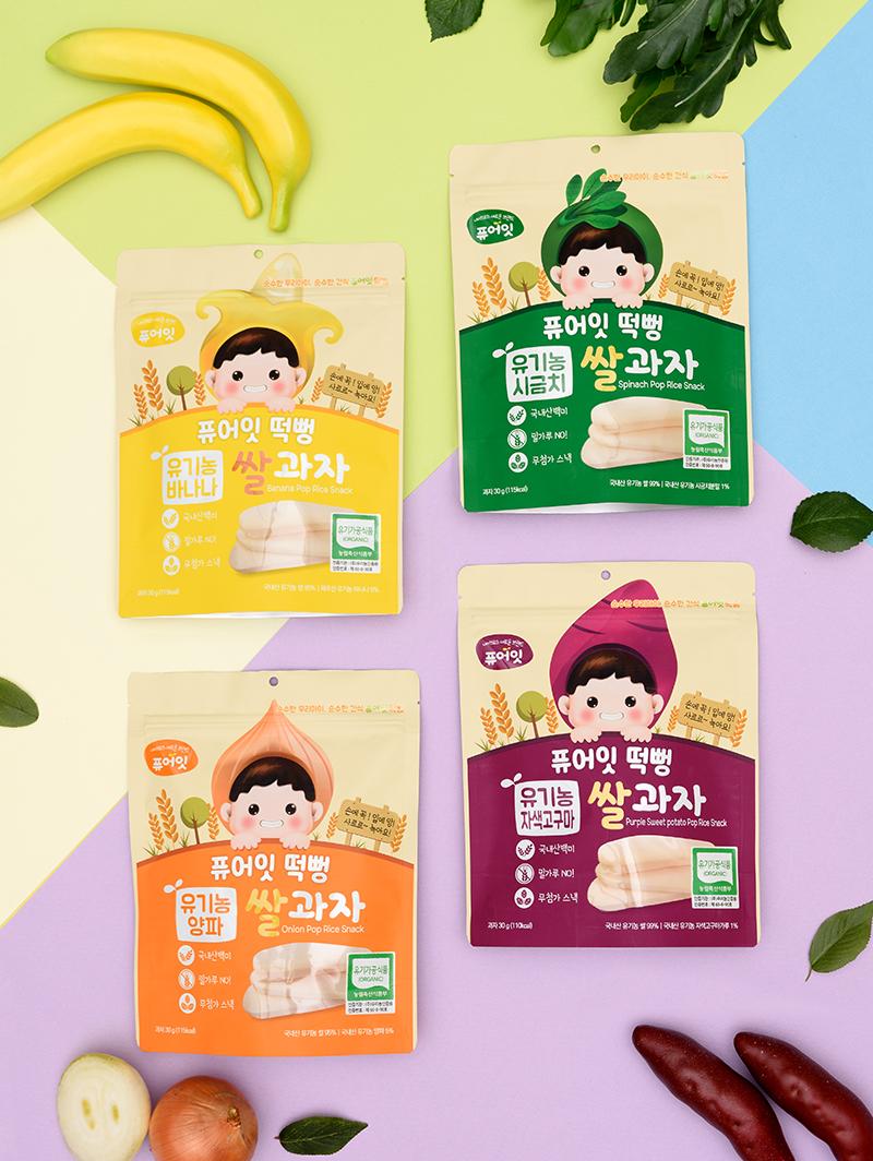 Корейская Органическая закуска Poprice Dduck Bbung, мягкая корейская детская закуска с морковным вкусом