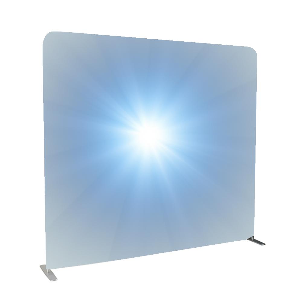 Прямой Алюминиевый Натяжной тканевый фон баннер